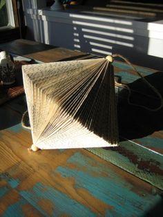 Folded Book Ornament by novelbrand on Etsy, $32.00