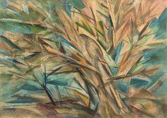 Natalia Gontcharova (Russian, 1881-1962)   Forest, ca. 1920  Oil on paper,  30,5 x 42,4 cm