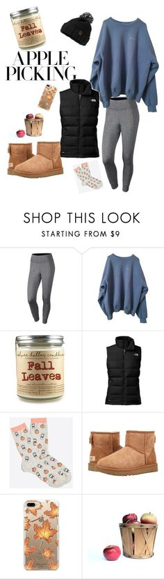 Apple Picking by baackehope-1 on Polyvore featuring NIKE, The North Face, UGG and Casetify