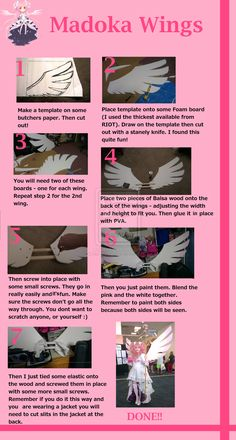 Madoka Ultimate Cosplay - How to make wings by Chibi-Tea-Sama