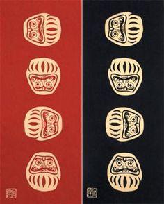 注ぎ染め手拭い(手ぬぐい)七転八起 tenugui textile patterns --------- #japan #japanese