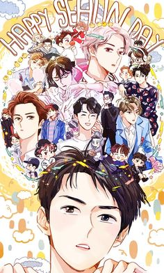 Discovered by xhaika. Find images and videos about cute, kpop and exo on We Heart It - the app to get lost in what you love. Kpop Exo, Chibi, Kpop Fanart, Chanbaek, Exo Birthdays, Kpop Anime, Exo Red Velvet, Pop Art Images, Fan Art
