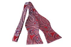 Bow Tie Untied by OTAA - Paisley Red - Bow Tie (Untied). Purchase Bow Ties from www.otaa.com.au | Shipping World Wide  | Only $20 AUD
