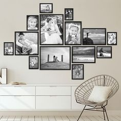 Bilderrahmen-Set Modern Schwarz aus MDF bis cm / Bildergalerie / Bilderwand Bilderrahmen-Sets und mehr Set of 14 modern black picture frames made of MDF to cm / picture gallery / picture wall Family Pictures On Wall, Family Wall, Photos On Wall, Wall Decor Pictures, Family Photos, Black Picture Frames, Picture Frame Sets, Photo Frame Ideas, Picture Photo