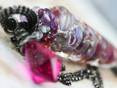 Jewelry - Pink Topaz Necklace Glass Lampwork Handmade by JewelsByLDesigns, $90.00