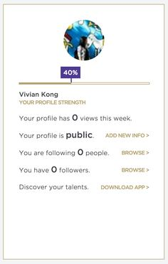 Profile Strength - http://www.levo.com/#dashboard