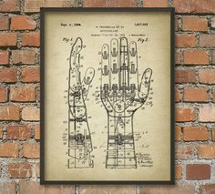 Kunstmatige nephand Patent Wall Art Poster Steampunk Bionic by QuantumPrints | Etsy