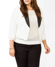 This jacket would go good with tuxedo pants. Faux Leather Lapel Blazer | FOREVER 21 - 2027705225