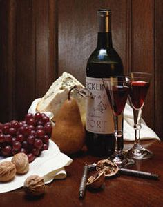 """Port wine, cheese & grapes...a fabulous """"I don't feel like cooking"""" dinner."""