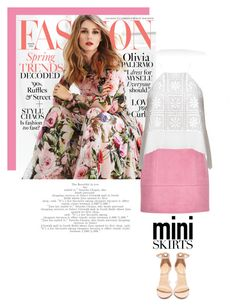 """""""Mini Me: Mini Skirt"""" by chalsouv ❤ liked on Polyvore featuring Gabor, Liliana and MINISKIRT"""