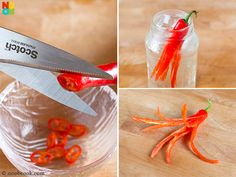 How to cut chilli