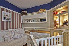 Quarto de bebê menino decorado em azul - lindo! Confira todos os detalhes!