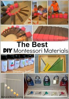 The best ways to save money and still incorporate the Montessori philosophy with DIY Montessori Materials and Montessori homeschooling  and teaching ideas.