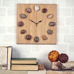 oak clock | oak pebble clock £ 52 this pebble clock is handmade from solid oak ...