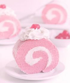 Pink cake roll