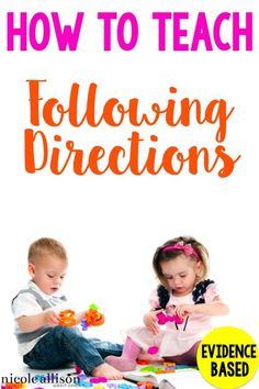 Teach-following-directions speech therapy ideas / speech and language lessons