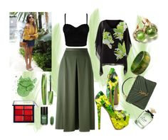 """""""#Something green"""" by edin-levic ❤ liked on Polyvore featuring Shoe Republic LA, Alexander McQueen, Windsmoor, Yves Saint Laurent, Pomellato, Rimmel and Dolce&Gabbana"""
