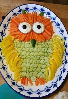 Gemüseplatte für Kinder