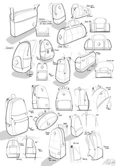 55 Ideas fashion design sketches inspiration products for 2019 Backpack Drawing, Drawing Bag, Fashion Design Sketches, Sketch Design, Pop Design, Design Lab, Design Concepts, Graphic Design, Illustration Sketches