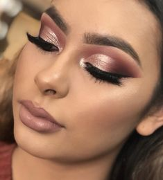 Rose Gold Quinceanera Make-up  rose gold wedding