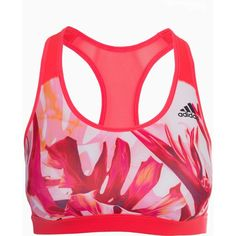 Adidas Sport Performance Rb Bra Olympic ($50) ❤ liked on Polyvore featuring activewear, sports bras, red, sports fashion, womens-fashion, logo sportswear, red sports bra, sports bra, racer back sports bra and adidas sports bra