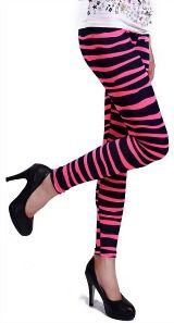 Neon pink tribal pattern leggings