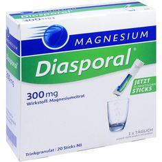 MAGNESIUM-DIASPORAL 300 mg Granulat:   Packungsinhalt: 20 St Granulat PZN: 10712457 Hersteller: Protina Pharmazeutische GmbH Preis: 4,95…