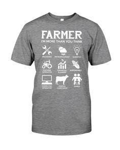 Farmer More Than You Think Funny s - Heather farmer quotes, farmer character, farmer style #farmers #agriculture #outdoors, dried orange slices, yule decorations, scandinavian christmas Sea Flap Flap, Pisces Girl, Love Math, Birthday Love, Animals Of The World, Types Of Shirts, Funny Shirts, Custom Shirts, Panda