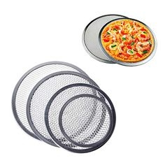 Fiesta Aluminum Mesh Grill Pizza Screen Round Baking Tray Net Kitchen Tools Ovens Kit M15 12 Inch Grilled Pizza Tray Bakes Kitchen Tools