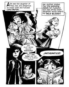 Author Sydney Padua's illustrated take on the origin story of Ada Lovelace.