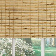 Custom Size Now by Levolor 72-in W x 60-in L Natural Bamboo Light Filtering Bamboo Natural Roman Shade