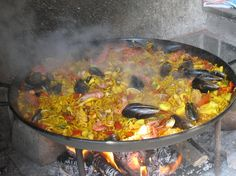 Fideuá - a dish similar to paella but made with small, macaroni-like pasta instead of rice.
