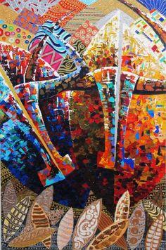 """Saatchi Art Artist Jose Luis Handal; Painting, """"CAPAS Y PINTAS"""" #art"""