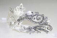 Classic White & Silver Venetian Masquerade by ForbiddenIdentity