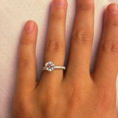 1.5 Carat Diamond Engagement Ring Thin Band 4