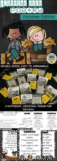 My students are FLIPPING over these poetry flip books!  They love the activities and are learning the poems.  Most importantly they are practicing their handwriting, fluency, sequencing, and recall!  Perfect for whole group or for a literacy station!