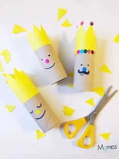 Imaginative Halloween Costumes - The Best Way To Be Artistic With A Budget Les Rois De L'piphanie - Apprendre Utiliser Les Ciseaux En Maternelle Toilet Roll Craft, Toilet Paper Roll Crafts, Kids Crafts, Arts And Crafts, Cardboard Toys, Diy Recycle, Epiphany, Creative Kids, Christmas Art