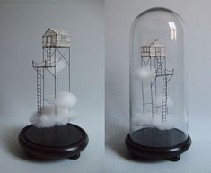 Fil de Fer Sculpture Art, Sculptures, Stylo 3d, 3d Pen, The Bell Jar, Mini Things, Diy Arts And Crafts, Wire Art, Glass Domes