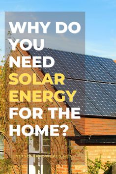 Solar energy for the home is one of the best solutions in order to meet your daily home energy requirement without sacrificing your budget. Learn more about solar energy on our blog 👉 getsolarpowered.net.