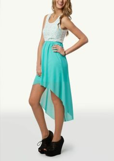 Lace Keyhole High Low Dress | Casual | rue21 This is what Lindsey L. likes . . .