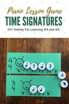 Reinforce Understanding Of Time Signatures With DIY Caterpillar Cards! Piano Lessons For Kids, Elementary Music Lessons, Preschool Music, Music Activities, Compas Musical, Music Theory Games, Piano Games, Music Lesson Plans, Piano Teaching