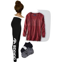 Morning by maddie-medsker on Polyvore featuring polyvore fashion style American Eagle Outfitters adidas Originals