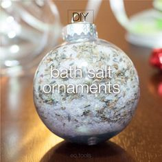 bath salt ornaments #Christmas #diy #giftidea