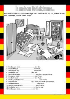 Positions - In my room French Language Lessons, French Language Learning, French Lessons, French Teaching Resources, Teaching French, Teaching Tools, Common French Phrases, French Prepositions, French Worksheets