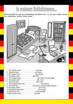 Willkommen auf Deutsch - In meinem Schlafzimmer - Präpositionen