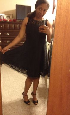 Stitch Fix August 2014 - Macie Lace Detailed Fit & Flare Dress