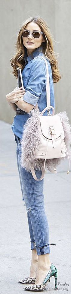 Who would even wear this purse?? Street Style / Olivia Palermo