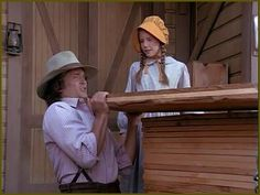 Charles and Laura. Michael Landon and Melissa Gilbert. Little house on the prairie.
