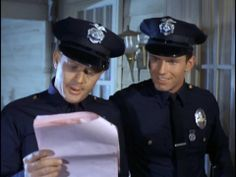 Pete and Jim Martin Milner, Adam 12, Los Angeles Police Department, Favorite Tv Shows, My Favorite Things, Hot Cops, Handsome Actors, Picture Collection, Movies And Tv Shows