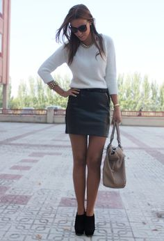 Massimo Dutti Sweaters, Mango Skirts and Dayaday Bags...love this entire look